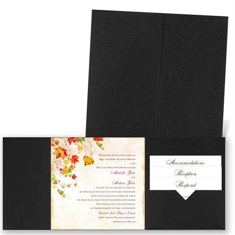 Last of Fall - Black - Pocket Invitation