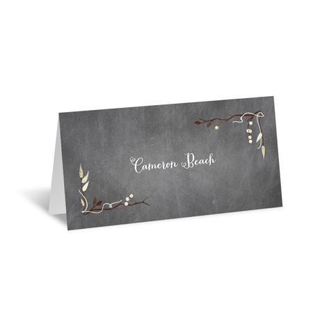 Chalkboard Autumn Place Card