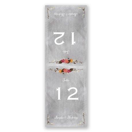 Chalkboard Autumn - Table Card