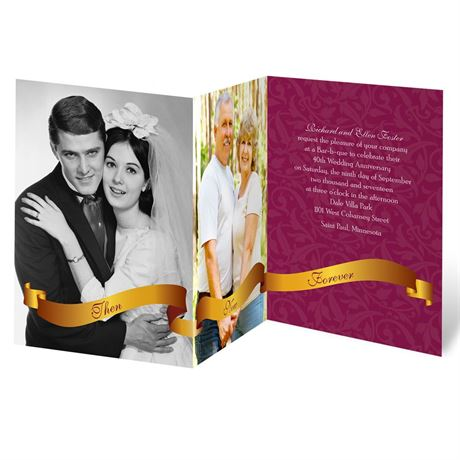Golden Vows Anniversary Invitation