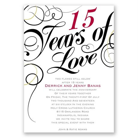 Years of Love Anniversary Invitation