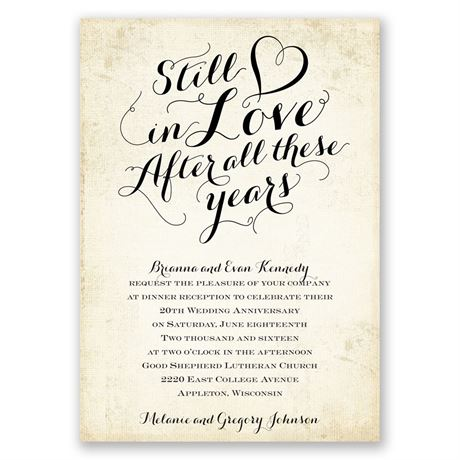 Still In Love Anniversary Invitation