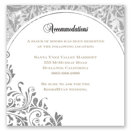 Damask Moon Accommodations Card