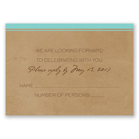 Pine Tree Treasures - Aqua - Response Card