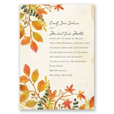 Autumn Hues Invitation