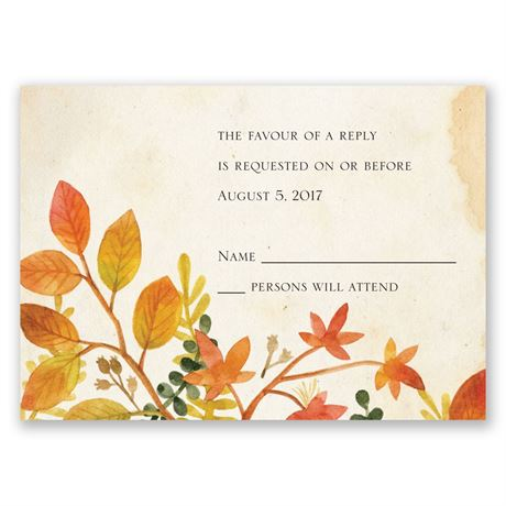 Autumn Hues Response Card