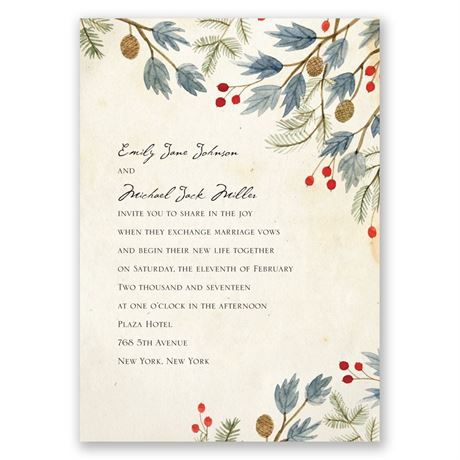 Winter Foliage Invitation