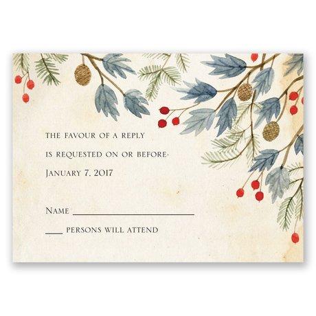 Winter Foliage Response Card