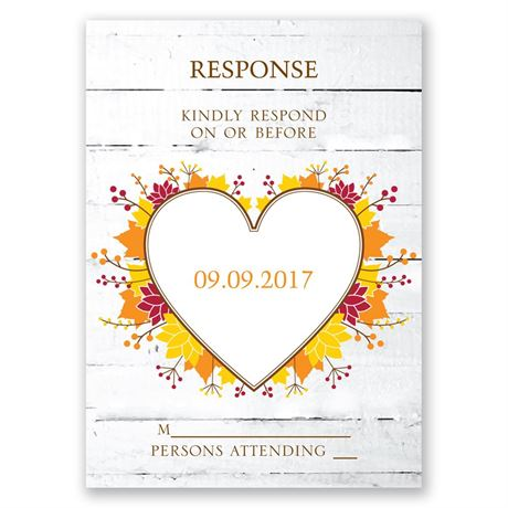 Autumn Love Response Card