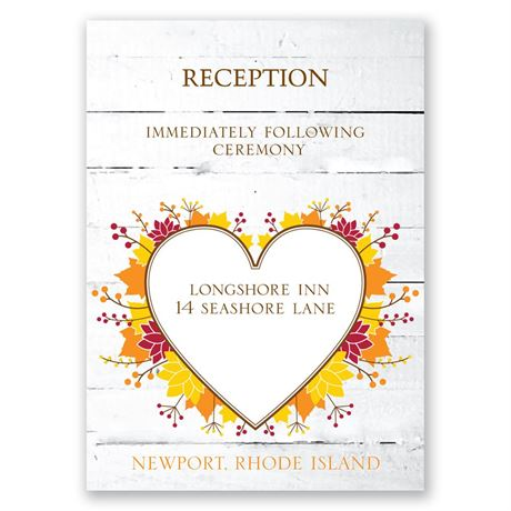 Autumn Love Reception Card