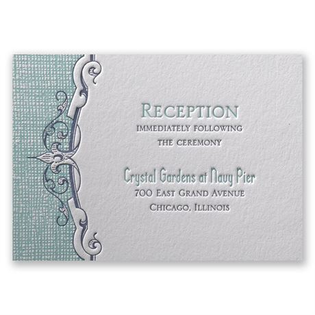 Swirls and Spires Letterpress Reception Card