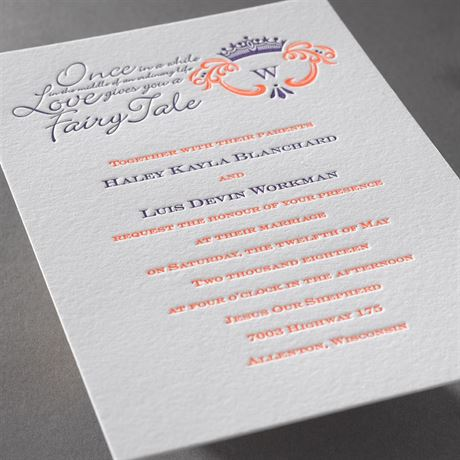 Simply Charming - Letterpress Invitation