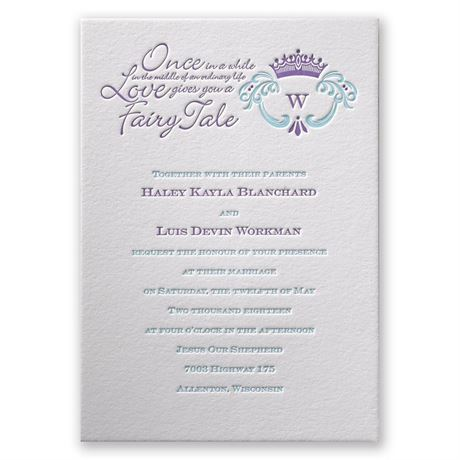 Simply Charming Letterpress Invitation