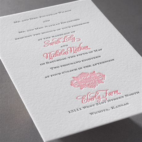 Timeless Elegance - Letterpress Invitation