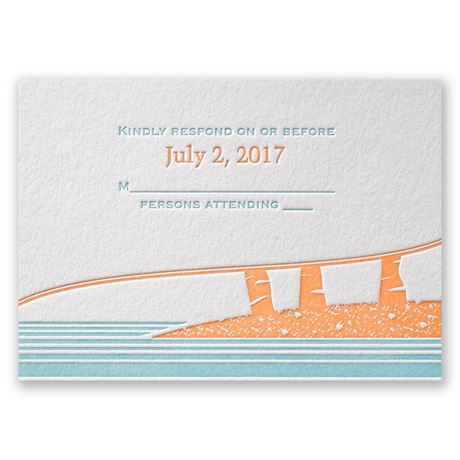 Tropical Escape Letterpress Response Card