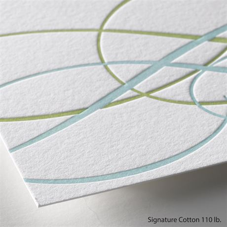 Sweet Swirls - Letterpress Invitation