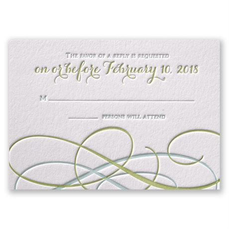 Sweet Swirls Letterpress Response Card