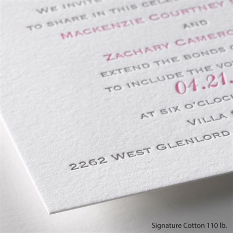 Perfect Match - Letterpress Invitation