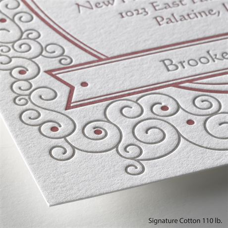 Soft Swirls - Letterpress Invitation
