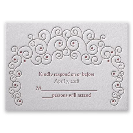 Soft Swirls Letterpress Response Card