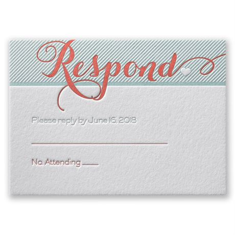 Hearts and Stripes Letterpress Response Card