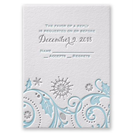 Winter Whimsy Letterpress Response Card