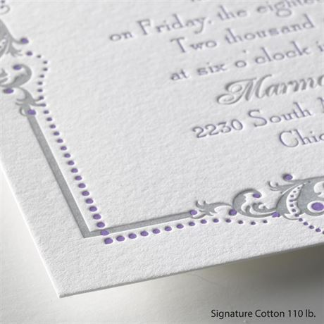 True Beauty - Letterpress Invitation