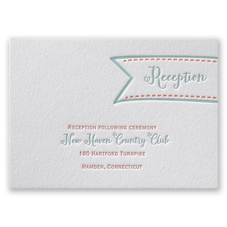 So Sweet Letterpress Reception Card