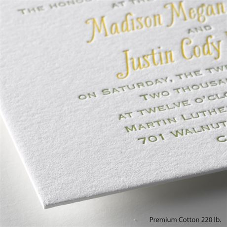 Floral Garland - Letterpress Invitation
