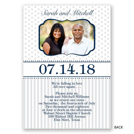 Once Again - Vow Renewal Invitation