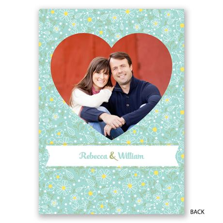 Floral Heart - Vow Renewal Invitation