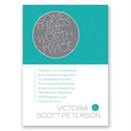 Worth It - Vow Renewal Invitation
