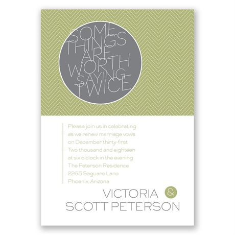 Worth It - Vow Renewal Invitation