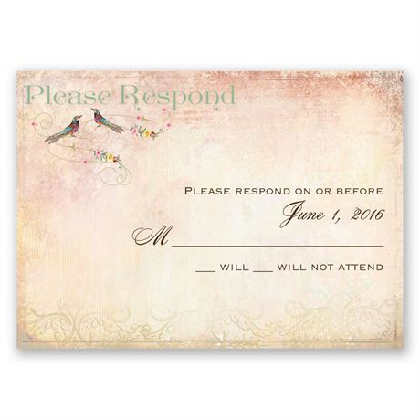 Always and Forever Response Card