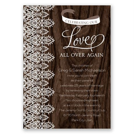 Love and Lace - Vow Renewal Invitation