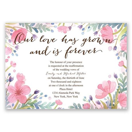 Love Grows - Vow Renewal Invitation