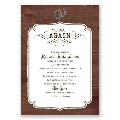 Western Revival Vow Renewal Invitation Invitations By Dawn