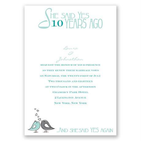 Years Ago - Vow Renewal Invitation