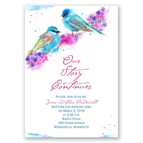 Watercolor Pair Vow Renewal Invitation