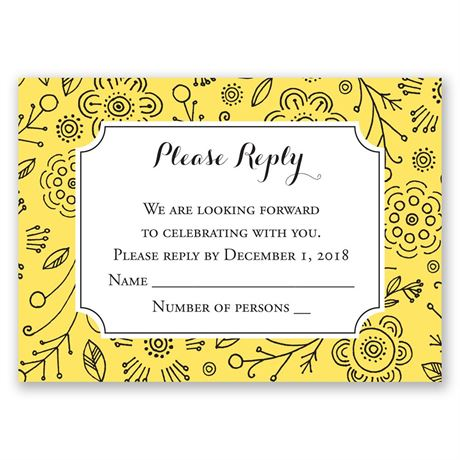 Charming Doodles - Canary - Response Card