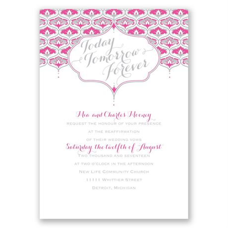 Teardrop Crest - Vow Renewal Invitation