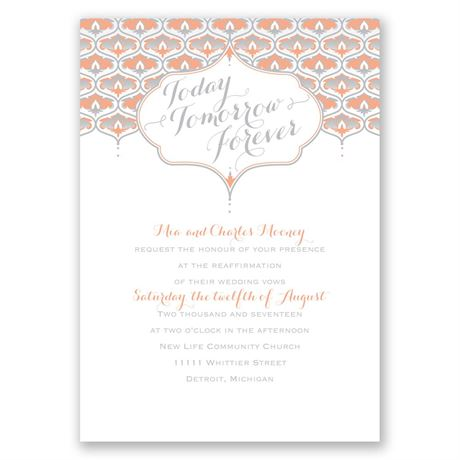 Teardrop Crest Vow Renewal Invitation