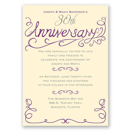 Charming Touches - Anniversary Invitation