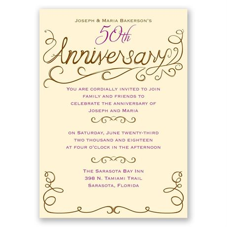 Charming Touches Anniversary Invitation