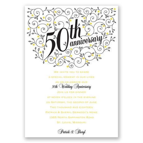 Forever Filigree 50th Anniversary Invitation