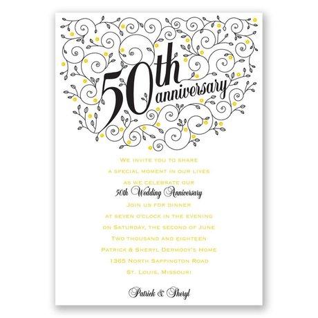 Forever Filigree 50th Anniversary Invitation