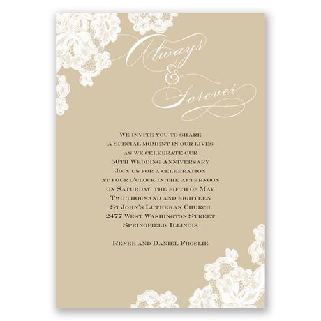 Forever Lace Anniversary Invitation