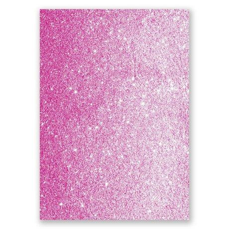 Love Sparkles - Fuchsia Faux Glitter - Invitation