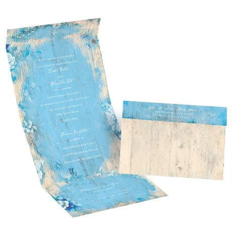 Rustic Beach - Celestial Blue - Seal and Send Invitation