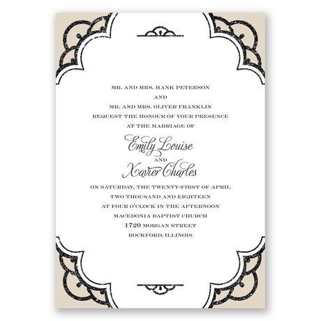 Radiant - Champagne Faux Glitter - Invitation